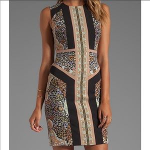 BCBG Lauren floral shift dress